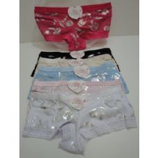 144 Units of Ladies Panties-Silver Flowers - Womens Panties / Underwear