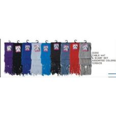24 Units of Cablr Hat And Scarf Set - Winter Scarves