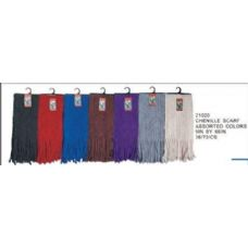 72 Units of Chenille Scarf - Winter Scarves