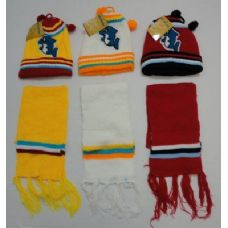 144 Units of Baby Knit Cap with Scarf--Dolphins