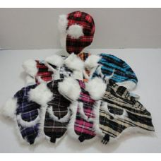 36 Units of Child's Bomber Hat--Plaid