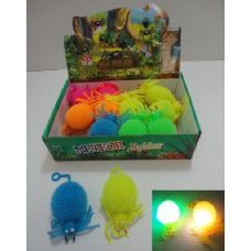 288 Units of Light Up Puffer Spider - Light Up Toys