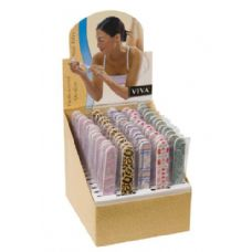 240 Units of Viva Padded Emery Board In Display Box - Manicure / Pedicure Items
