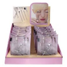 96 Units of Viva 5 Pc Cosmetic Tool Set In Display Box - Cosmetics