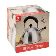 12 Units of 3 Qt Stainless Steel Whistling Tea Kettle - Stainless Steel Cookware Sets