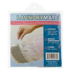 144 Units of Item# 438 4 Pocket Hosiery Separator Zippered Wash Bag - Laundry  Supplies