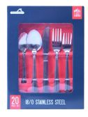 24 Units of 20 Pc. Formal Stainless Steel Cutlery Set - Stainless Steel Cutlery Sets