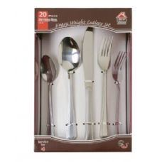 15 Units of 20 Pc. Stainless Steel Cutlery Set Heavy Weight - Stainless Steel Cutlery Sets