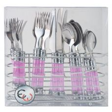 12 Units of 20 Pc S.S Cutlery Set In Chrome Caddy - Stainless Steel Cutlery Sets
