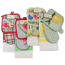 144 Units of Item #703 Chef's Collection - 3 Pc. Kitchen Set - Kitchen Towels