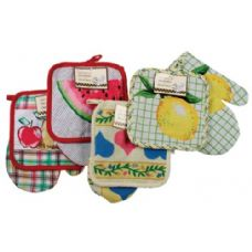 216 Units of Item# 709 Chef's Collection Pot Holder & Oven Mitt Set - Oven Mits & Pot Holders