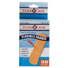 72 Units of Item# 991 30 Count Flexible Fabric Bandages - First Aid / Band Aids