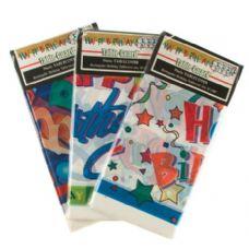 72 Units of 54X108 Happy Birthday Tablecloth (Asst Prints) - Table Cloth