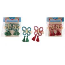 96 Units of 2 Piece Butterfly Curtain Clip Set - Curtains