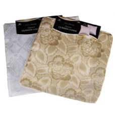 "144 Units of 16""X16"" White/Beige Fancy Damask Cushion Cover"