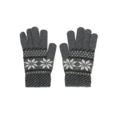 72 Units of Snow Flake Knit Glove One Size Fits All , Assorted Colors - Knitted Stretch Gloves