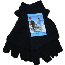 48 Units of Fleece Fingerless Glove - Fleece Gloves