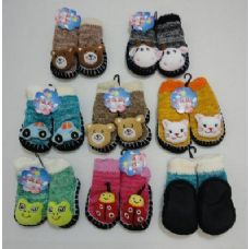 72 Units of Knit Booties with Characters - Girls Boots