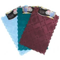 "144 Units of 2 Pc 12""X18"" Asst Colors Fancy Damask Placemats - Placemats"