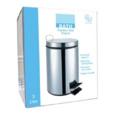 8 Units of 3 Liter Stainless Steel Stepcan - Waste Basket