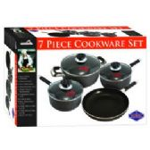 4 Units of 7 Pc. Heavy Gauge Non-Stick Cookware Set - Pots & Pans