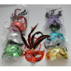 72 Units of Mask with feathers and decal - Costumes & Accessories