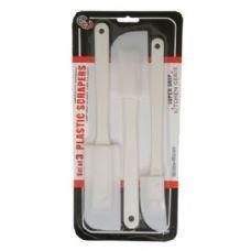 144 Units of Set Of 3 Plastic Scrapers - Kitchen Gadgets & Tools