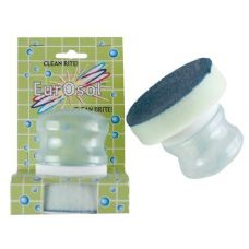 96 Units of Soap Dispensing Scrub Round Sponge - Cleaning