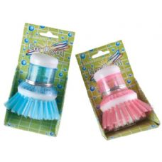 96 Units of Soap Dispensing Scrub Round Brush - Cleaning