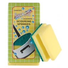 96 Units of 3 Pk Easy Grip Scouring Sponges - Scouring Pads & Sponges