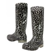 12 Units of Animal Print Rain Boot - Womens Boots