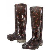 12 Units of Floral Print Rainboot - Womens Boots