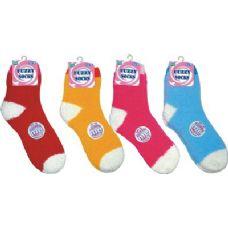 144 Units of Warm Fuzzy Sock - Womens Fuzzy Socks