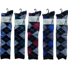 48 Units of Argyle Trendy Knee High - Womens Knee Highs