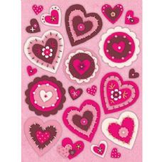 144 Units of Heart Window Cling Stickers - Valentines