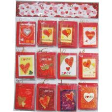 120 Units of Valentines Gift Card 5x4Inch With Envelope On Display - Valentines