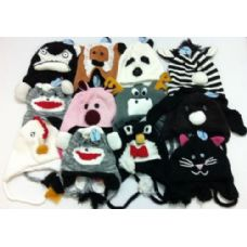 48 Units of Knit Animal Hats - Junior / Kids Winter Hats