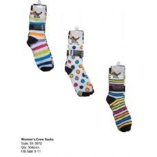 120 Units of Womans Trendy Crew Sock - Womens Crew Sock