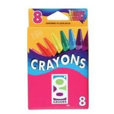 144 Units of 8 Ct.  Crayons - Chalk,Chalkboards,Crayons