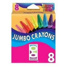 96 Units of 8 Ct.  Jumbo Crayons - Chalk,Chalkboards,Crayons