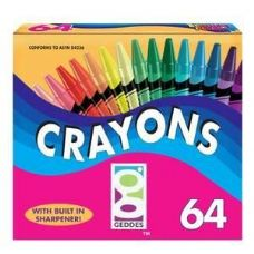48 Units of 64 Ct.  Crayons - Chalk,Chalkboards,Crayons