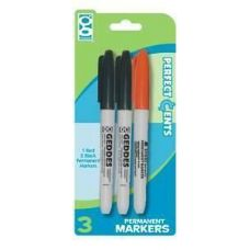48 Units of 3 Ct. Permanent Marker - Markers and Highlighters