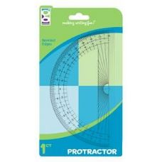 "48 Units of 1ct 6"" Protractor (Carded) - Rulers"