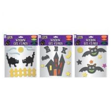72 Units of Halloween Window Gel Clings