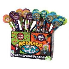 576 Units of Scented Halloween Pencil with Giant Eraser - Pencils