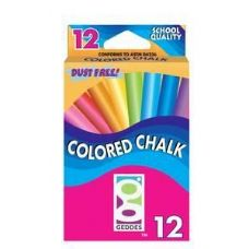 144 Units of 12 Ct  Color Chalk Pack - CHALK,CHALKBOARDS,CRAYONS