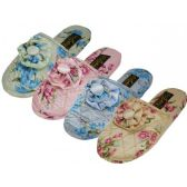 48 Units of Ladies Floral House Slipper S-XL - Womens Slippers
