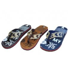 36 Units of Men Printed Thong Sandal - Men's Flip Flops & Sandals