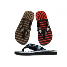 36 Units of Men's Ridged Sport Thong - Men's Flip Flops & Sandals