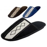 36 Units of Men's Velour Bed Room Slipper - Men's Slippers